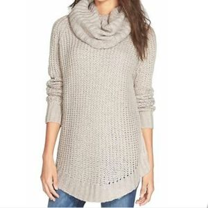 Dreamers  turtleneck long cable knit sweater